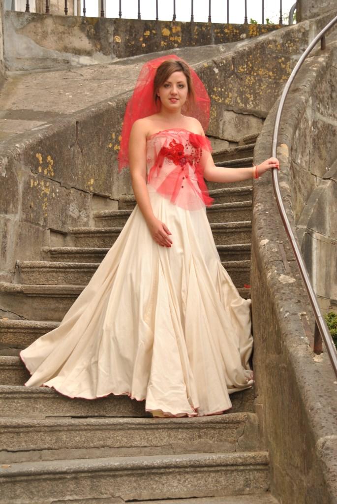 recyclée toile légère robe mariée