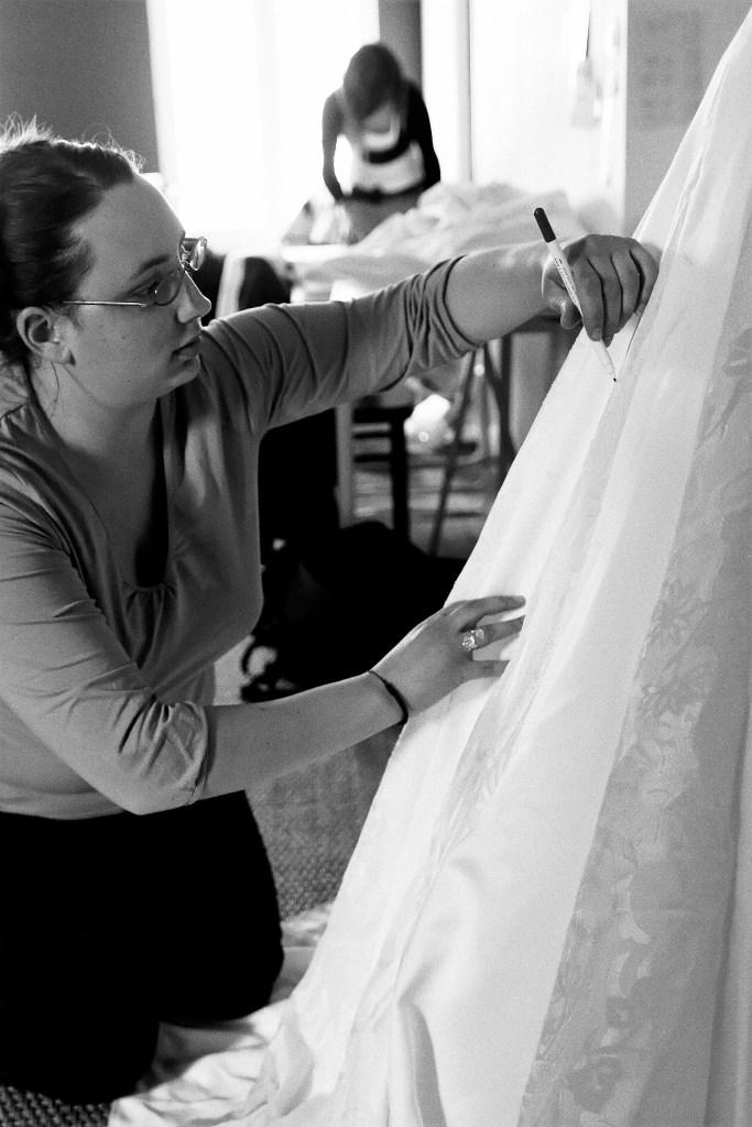 essayage toile prototype robe de mariée Berric Anais