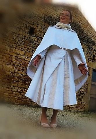 robe hiver asymétrique devant