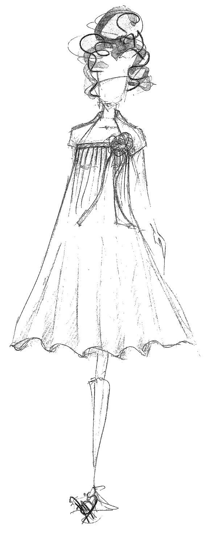 croquis robe de mariée pièce unique Broder ces jours