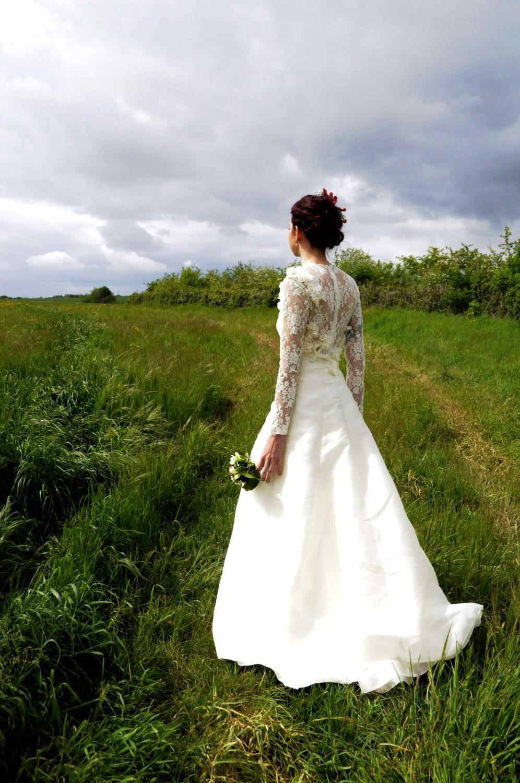 robe mariée fluide et légère création pièce unique Broder ces jours