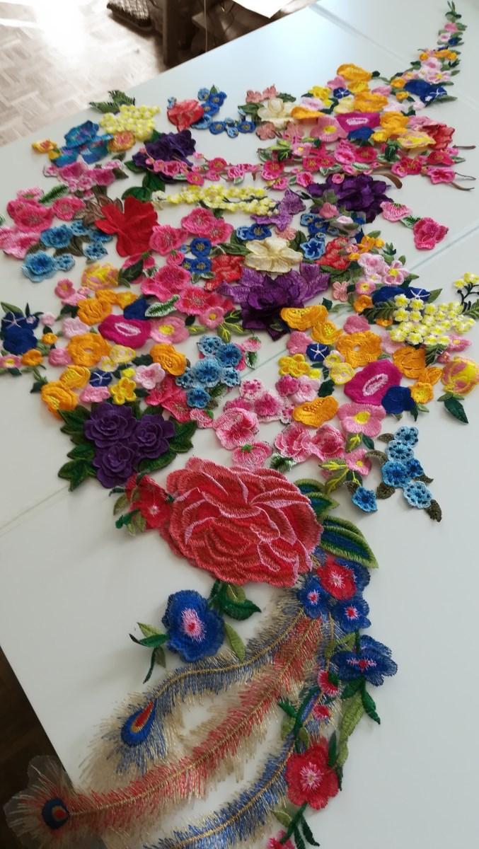 essaie fleurs robes mariée colorée Upcycling